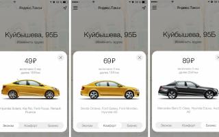 6 основных категорий автомобилей в Яндекс Такси