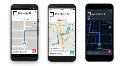 В приложение автоматически прокладывается выгодный маршрут