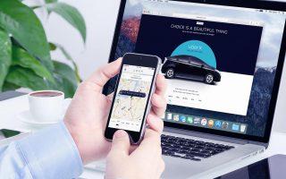 Приложение для заказа такси Убер с компьютера
