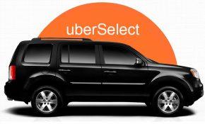 Цены и условия работы на тарифе Uber Select