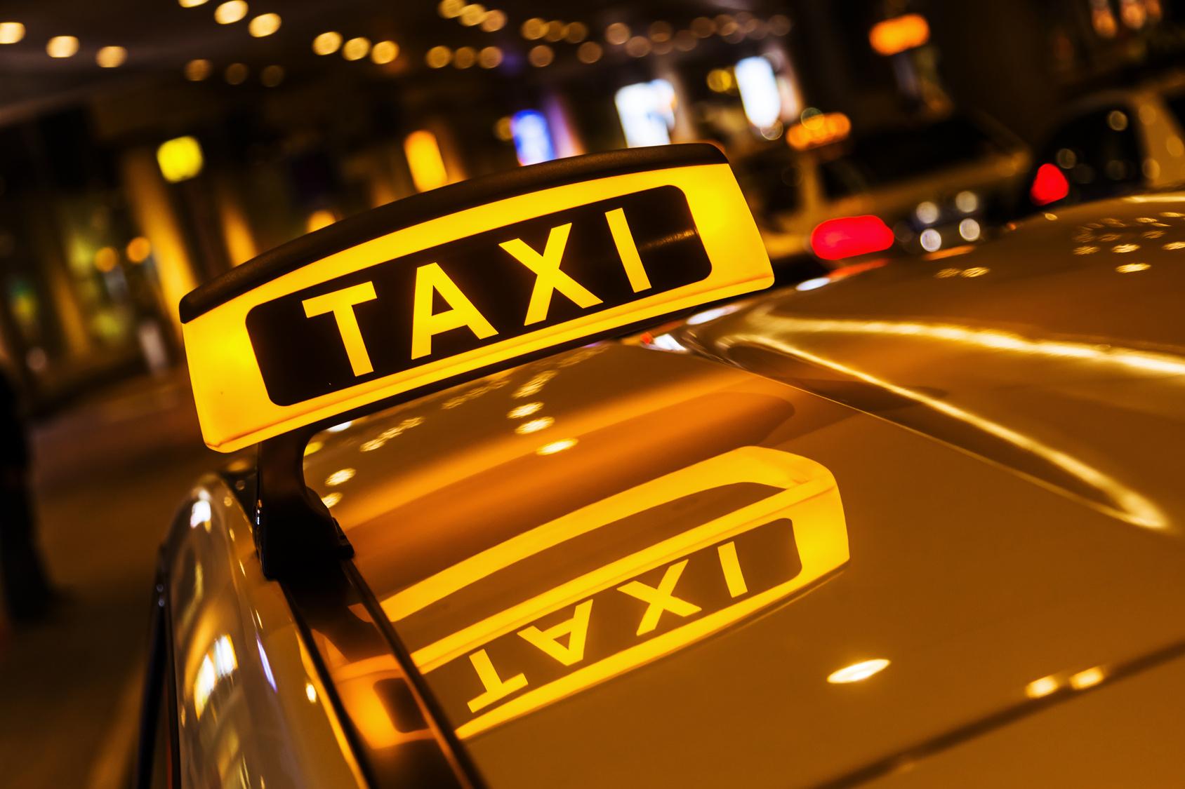 такси машина